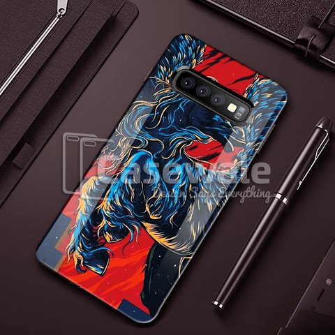 Horse - Universal Symbol of Freedom Pattern Glass Case for Galaxy S10/ S10 Plus