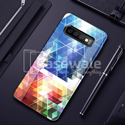 Prism Marble Pattern Glass Case for Galaxy S10/ S10 Plus