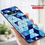 Spheres Blue Marble Pattern Glass Case for Galaxy S10/ S10 Plus