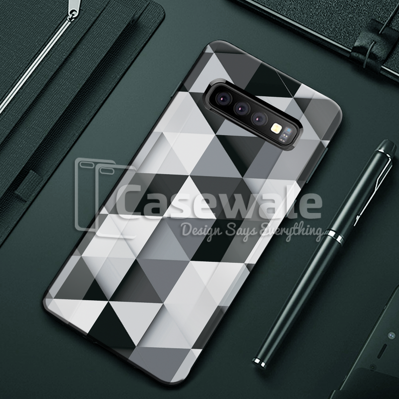 Ashford Color Marble Pattern Glass Case for Galaxy S10/ S10 Plus