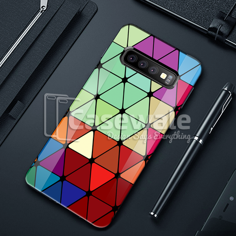 Adobe Color Marble Pattern Glass Case for Galaxy S10/ S10 Plus
