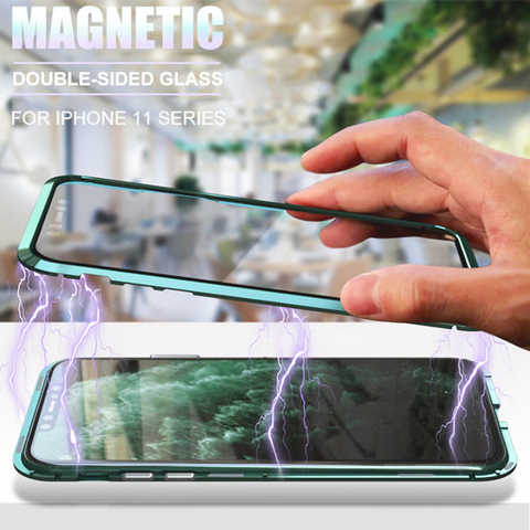 Double Sided Magnetic Glass Case for iPhone 12 Series