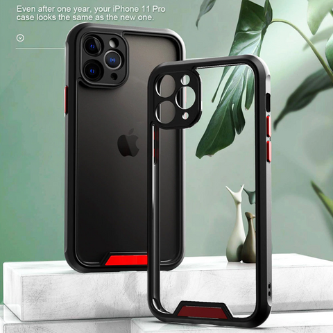 Armor Transparent Shockproof Bumper Case for iPhone 12 Series
