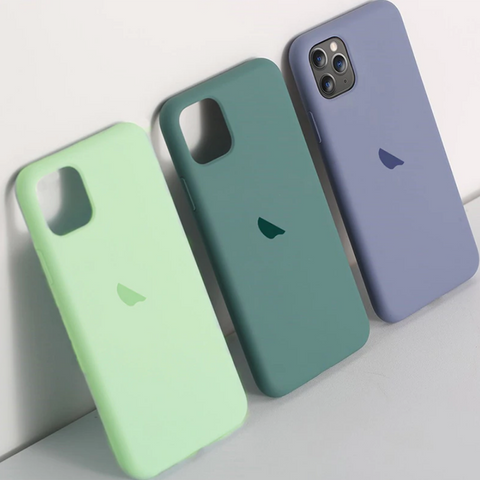 Original Silicone Apple Logo Case for iPhone 11 Series
