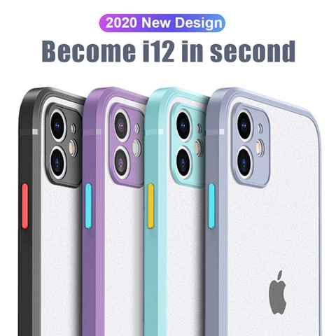 Anti Knock Soft TPU Matte Case for iPhone 12 Series