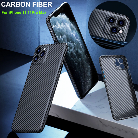 Luxury Carbon Fiber Camera Protective Case for iPhone 11 Series