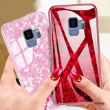 Marble Pattern Tempered Glass Phone Case for Galaxy A8 Plus