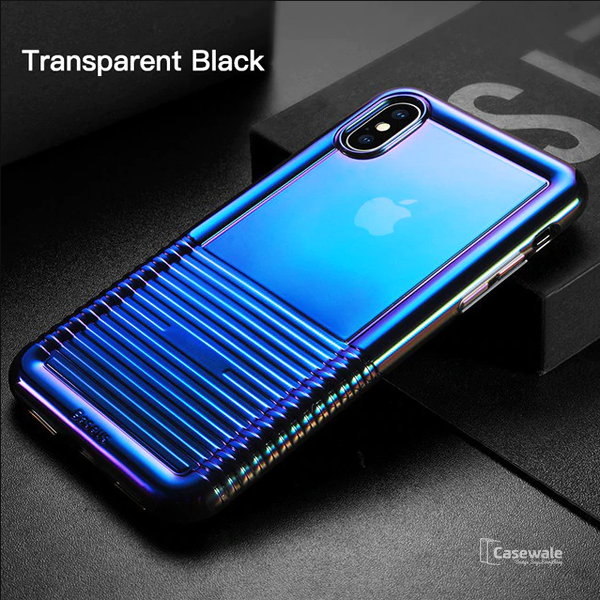 Baseus Shockproof Gradient Soft Silicone Case For iPhone XS