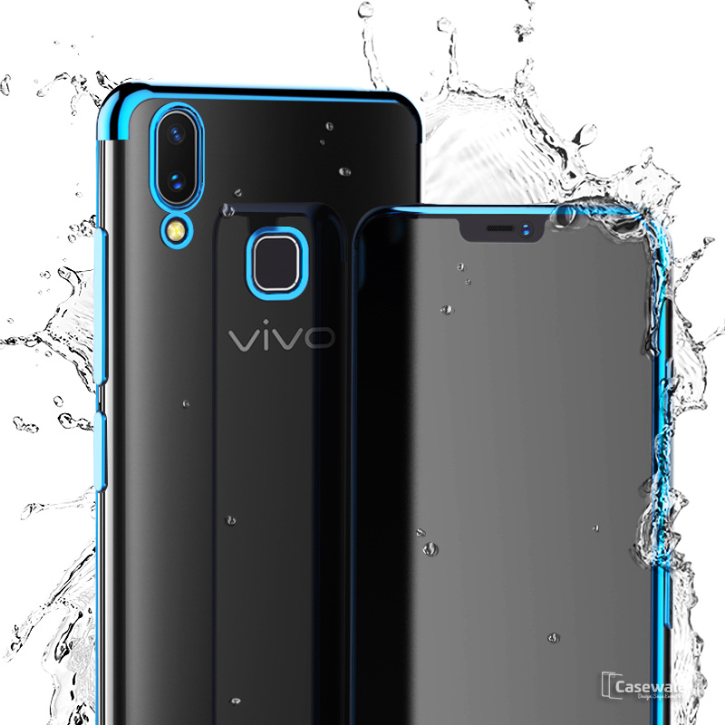 pretty nice f0910 37a49 High-end Fashion Transparent Plated Case for Vivo V9