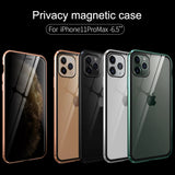 Privacy Tempered Glass Magnetic Case for iPhone 11 Series