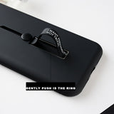 Luxury Stealth Bracket Ring Holder Personality Case for Galaxy A70