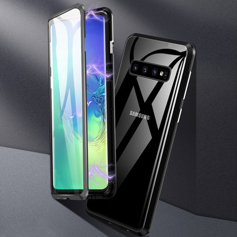 Double Sided Aluminum Metal Glass Case for Galaxy S10/ S10 Plus