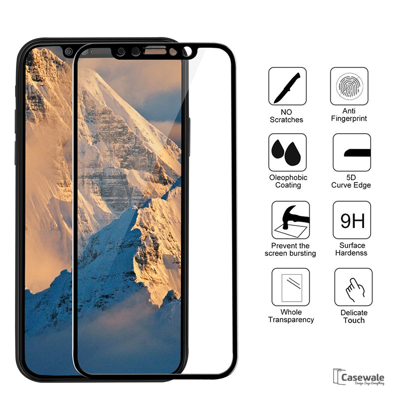 sports shoes 1f6c6 3228c Full Curved Screen Protector for iPhone X 5D Edge Premium Anti-Explosion  Tempered Glass