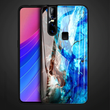 Luxury Artistic Marble Glass Case for Vivo V15