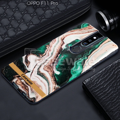 Glossy Agate Luxury Marble Case for Oppo F11 Pro
