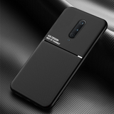 IQS Design Soft Leather Texture Case with Magnetic Car Vent For Oneplus 7 / 7 Pro