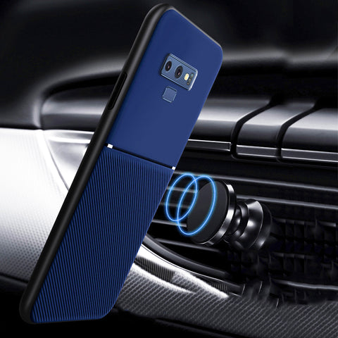 IQS Design Soft Leather Texture Case with Magnetic Car Vent for Galaxy Note 9