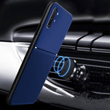 IQS Design Soft Leather Texture Case with Magnetic Car Vent for Galaxy Note 10 Series