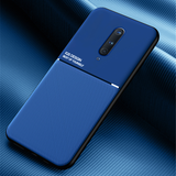 IQS Design Soft Leather Texture Case with Magnetic Car Vent For Oneplus 8 / 8 Pro