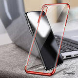 iPhone X High-end Fashion Transparent Plated Mobile Phone Case