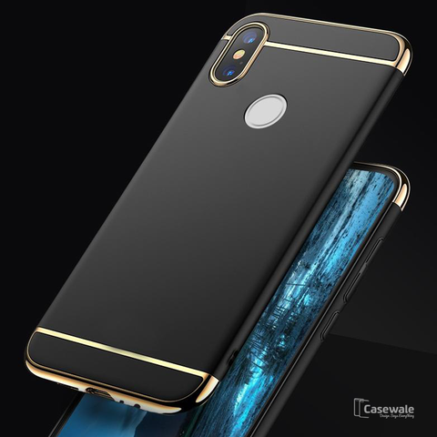 Luxury 3 in 1 Electroplating Phone Case for Redmi Y2