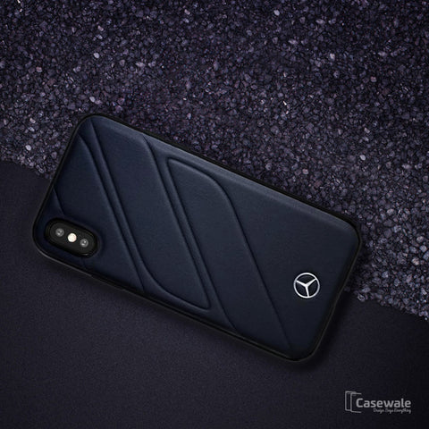 Mercedes Benz ORGANIC I Genuine Leather Hard Case for iPhone XS