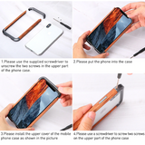 R-JUST Luxury Aluminum Metal Wood Bumper Case for iPhone X Series