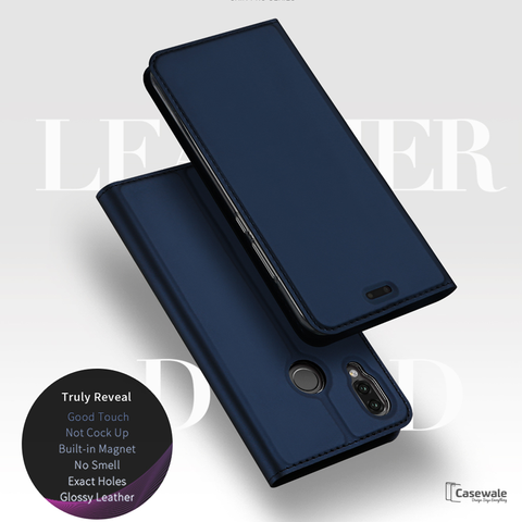 Original DUX DUCIS Leather Flip Case For Huawei P20 Lite