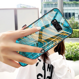Luxury Artistic Marble Glass Case for Galaxy S8/ S8 Plus