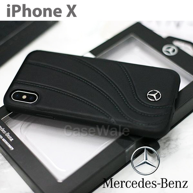 the latest 68d4b ef621 Mercedes Benz ORGANIC II Genuine Leather Hard Case for iPhone XS