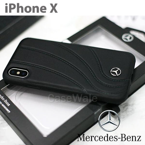 Mercedes Benz ORGANIC II Genuine Leather Hard Case for iPhone XS