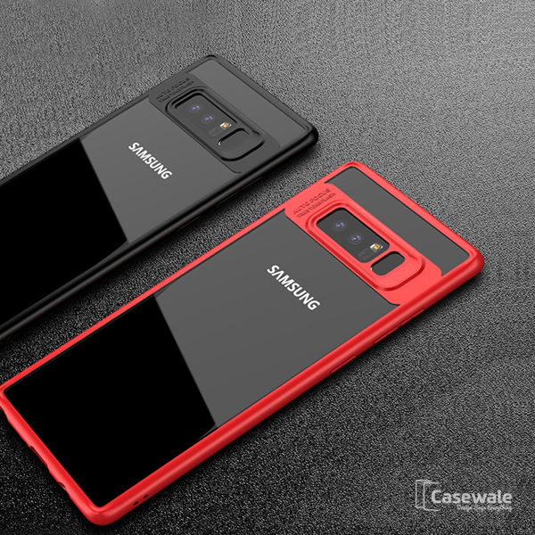 new product 507f3 c95b5 Full Protective Transparent TPU Auto Focus Case for Galaxy Note 8