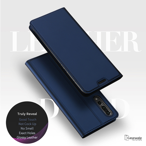 Original DUX DUCIS Leather Flip Case For Huawei P20 Pro