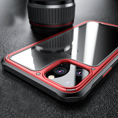 Luxury Shockproof Silicone Airbag Transparent Case For iPhone 11 Series