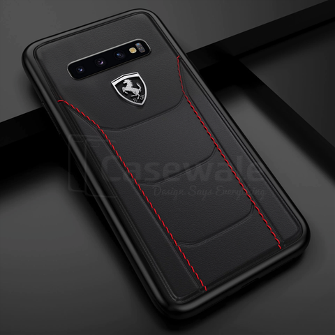 Ferrari ® Genuine Leather Crafted Limited Edition Case for Galaxy S10 Series