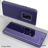 Mirror Clear View Touch Flip Case for Galaxy S9/ S9 Plus [Non-Sensor]