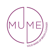 MuMe solid make-up brush cleanser logo