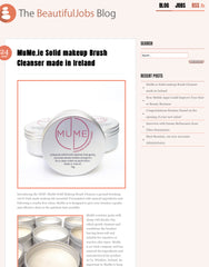 beautiful jobs.ie blog post on MuMe brush cleanser