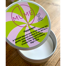 MuMe's solid makeup brush cleanser