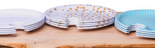 Set of 4 Appetizer Plates with Glass Holder (Gold Sparkle)