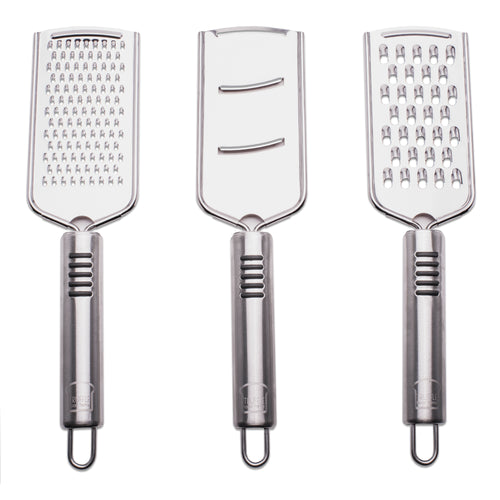 Set of 3 Professional Stainless Steel Graters