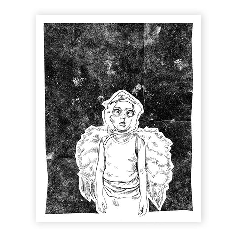 Expecting to Fly Illustrated Print 8.5x11""
