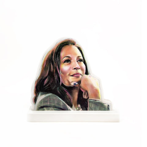 Kamala Harris Illustrated Wooden Standee