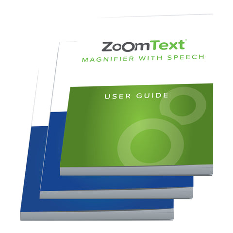 JAWS Quick Start Guide in Print and Braille, ZoomText User Guide
