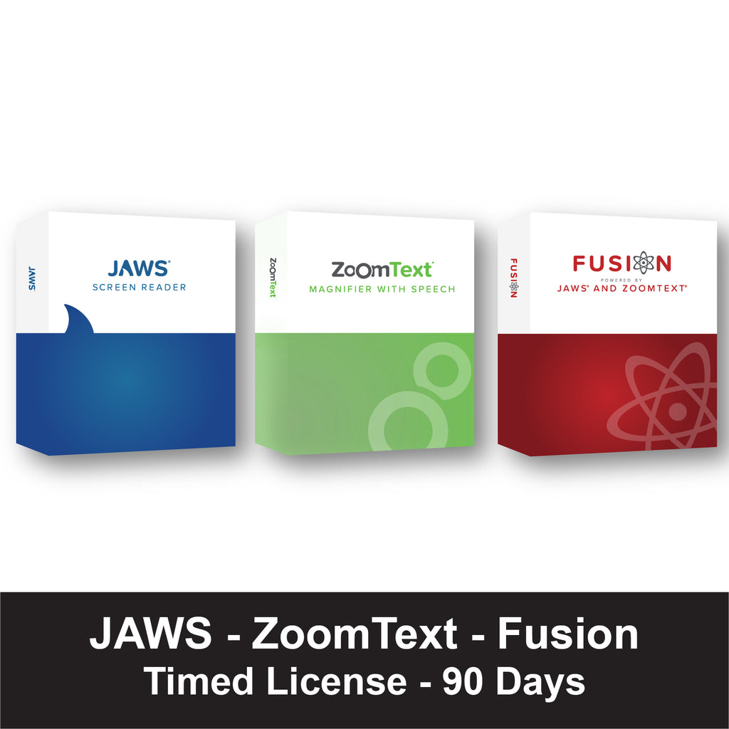 jaws fusion zoomtext timed license 90 days freedom scientific estore