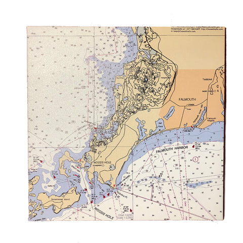 Nautical Woods Hole Map