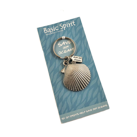 Shell Save Our Oceans Keychain