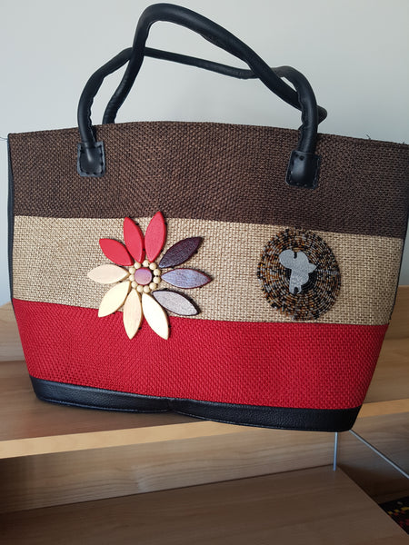Mama's handbag with leather straps