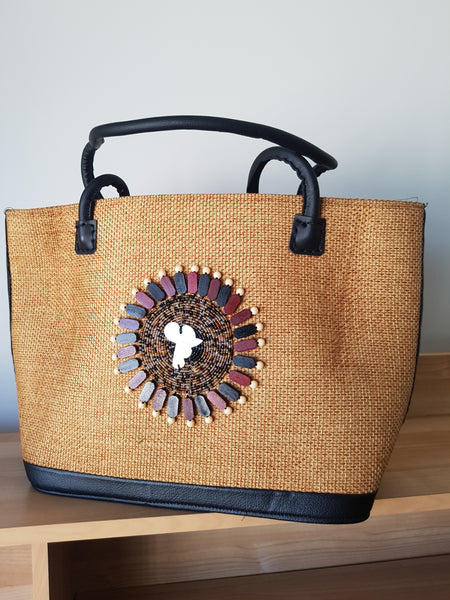 African blossom with leather straps