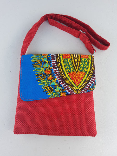 Red African Ipad Bag